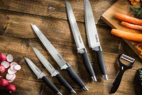 Groupon Goods Global GmbH - Tower Six Piece Staineless Steel Knife Set - Save 0%