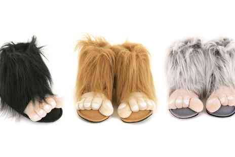 Groupon Goods Global GmbH - Mens Bigfoot Novelty Slippers - Save 0%