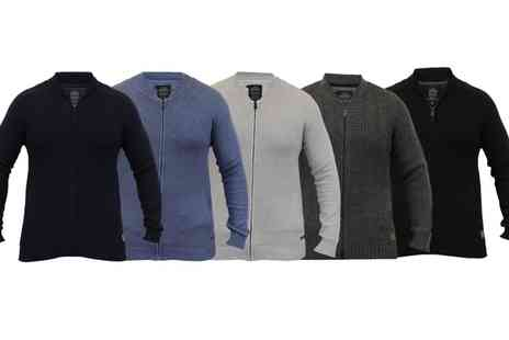 Groupon Goods Global GmbH - Mens Threadbare Zip Knitted Cardigans - Save 0%