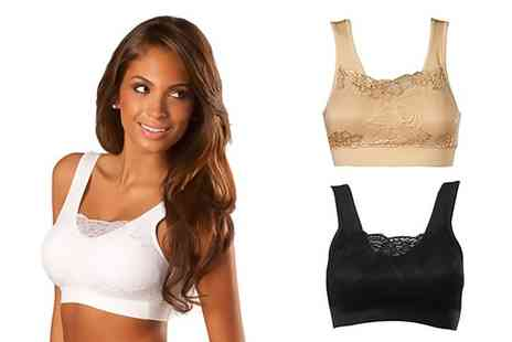 Groupon Goods Global GmbH - Lace Front Padded Comfort Bra Three Pack or Six Pack - Save 0%