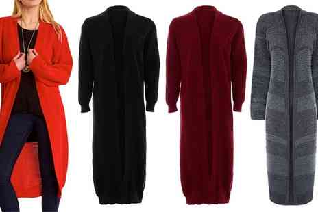 Groupon Goods Global GmbH - Be Jealous Maxi Chunky knitted Open Cardigan in Choice of Colour - Save 0%