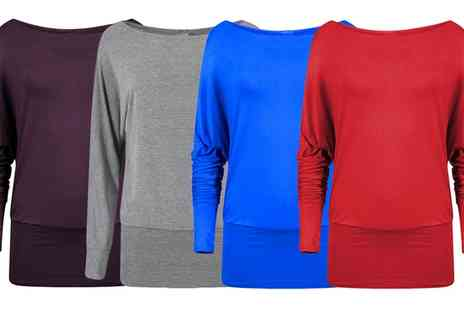 Groupon Goods Global GmbH - Womens Off the Shoulder Batwing Tops - Save 0%