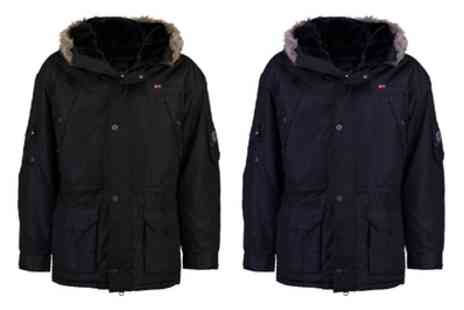 Groupon Goods Global GmbH - Mens Geographical Norway Anaconda Parka With Free Delivery - Save 57%