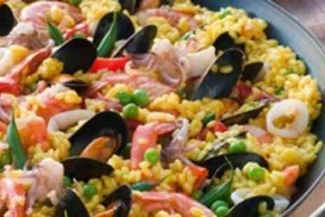 Mojo Bar and Tapas - Paella, Dessert and Wine For Four - Save 62%