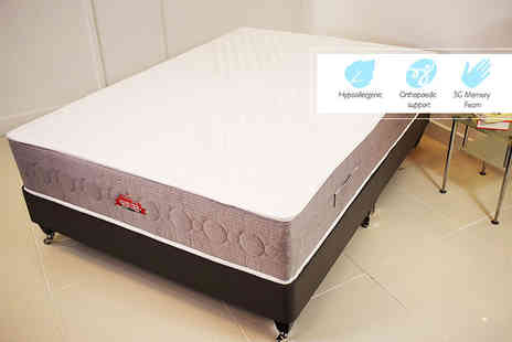 Midnight Dreams - Single, small double or double or king size memory foam orthopaedic mattress - Save 87%