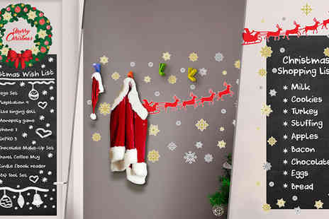 Walplus - Christmas Blackboards and Coat Hooks with Wall Stickers Three Designs - Save 63%