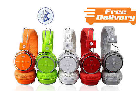 D2D Distributors - Wireless Foldable Headphones Five Colours - Save 87%