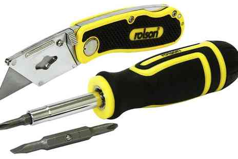Groupon Goods Global GmbH - Rolson Six In One Screwdriver and Knife Set - Save 0%