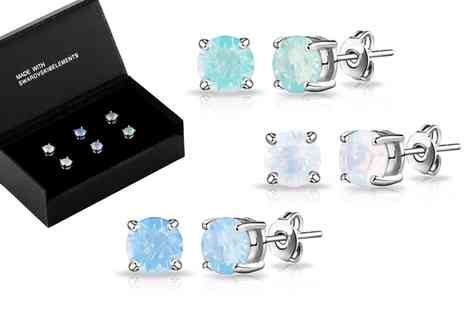 Groupon Goods Global GmbH - Opal Earrings Made with Crystals from Swarovski - Save 0%