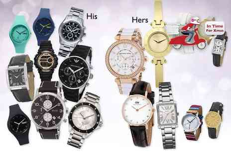 Brand Arena - Mystery watch for him or her including Michael Kors, Armani, Guess, Hugo Boss, Swiss Military, DKNY, Calvin Klein, Karen Millen and more - Save 0%
