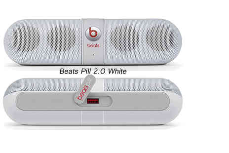 Ckent - Beats Pill 2.0 portable bluetooth speaker, bringing the bass in white, gold trim white or black - Save 29%