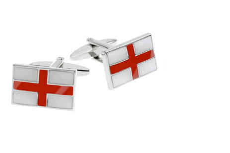 DTA Trading - Set of St Georges cross flag cufflinks - Save 61%