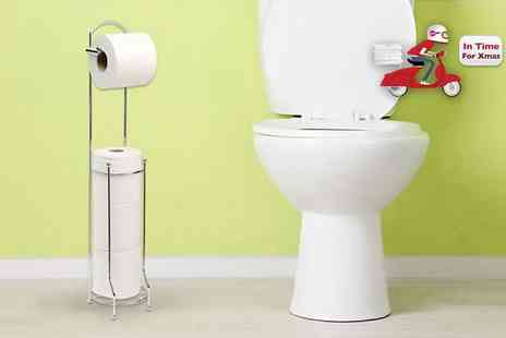 Home Empire - Modern, stylish and handy chrome plated toilet roll holder that stores rolls neatly and tidily - Save 68%