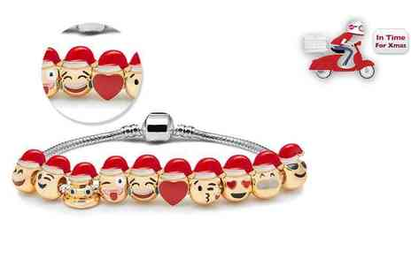 The Gemseller - Emoji charm bracelet with three charms - Save 92%
