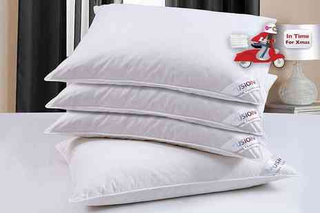 Fusion Homeware - Two goose feather and down pillows - Save 88%