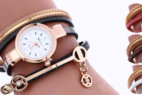 India Rose Designs - Snake Crystal Wrap Watch Four Colours - Save 77%