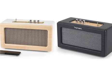 Groupon Goods Global GmbH - Intempo Retro Speaker with Leather Cover Include Free Delivery - Save 0%