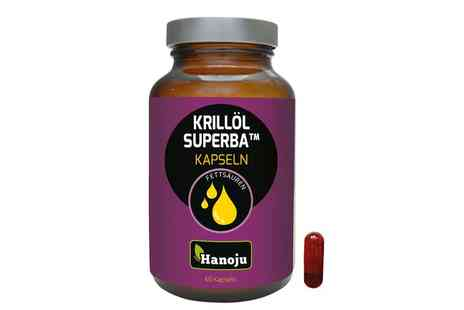 Groupon Goods Global GmbH - 60 Capsules of Hanoju Superba Krill Oil 500mg - Save 0%