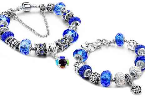 Groupon Goods Global GmbH - Molly Charms Bracelet with Crystals from Swarovski - Save 0%