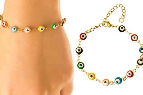 Groupon Goods Global GmbH - Womens Jamila Evil Eye Enamel Bracelet - Save 0%