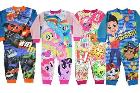 Groupon Goods Global GmbH - Childrens Character Soft Fleece Onesies - Save 0%