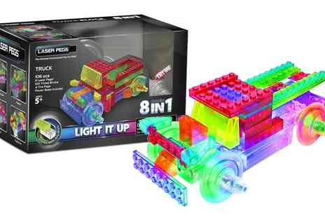 Groupon Goods Global GmbH - Laser Pegs Eight In One Light Up Truck Construction Kit - Save 0%