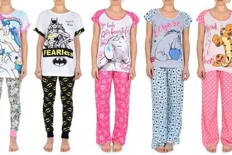 Groupon Goods Global GmbH - Womens Disney and DC Character Pyjamas - Save 57%