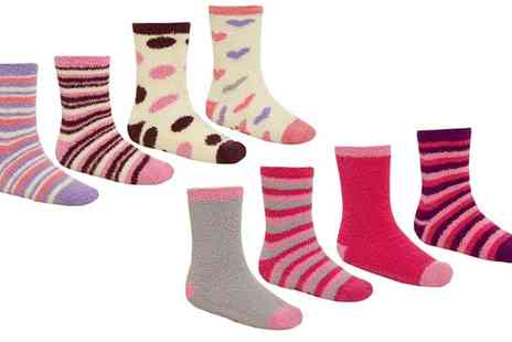 Groupon Goods Global GmbH - Womens Cosy Socks Four Pack - Save 0%