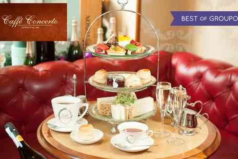 Caffe Concerto - Afternoon Tea with Optional Prosecco for Two or Four - Save 29%