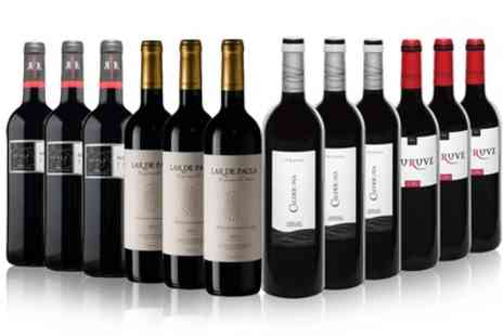 IBERVILLA FINE FOODS - 12 Bottles of Mixed Red Spanish Wine With Free Delivery - Save 38%