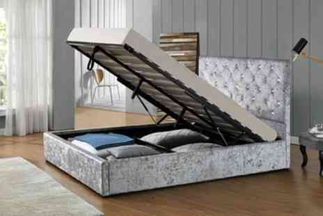 Groupon Goods Global GmbH - Chatsworth Ottoman Storage Bed with Mattress Include Free Delivery - Save 26%