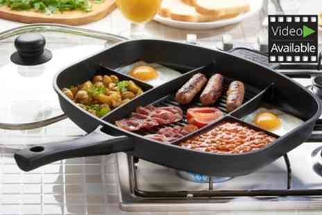 Groupon Goods Global GmbH - Cooks Professional Non Stick Split Section Frying Pan With Free Delivery - Save 70%