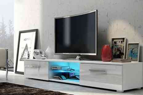 Groupon Goods Global GmbH - Edith TV Cabinet with LED lighting Include Free Delivery - Save 49%