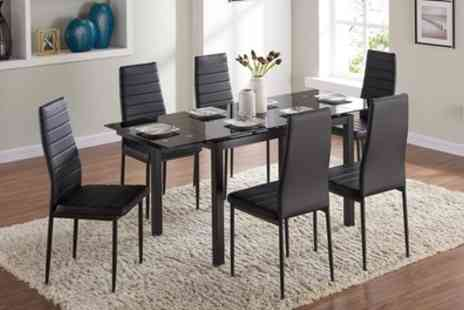 Groupon Goods Global GmbH - Grange Dining Table with Six Chairs Include Free Delivery - Save 64%