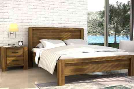 Groupon Goods Global GmbH - Chester Wooden Bed Frame with Mattress Include Free Delivery - Save 26%