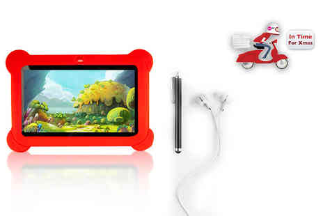 Wowcher Direct - Seven inch Android quad core tablet with case select from three colours - Save 64%