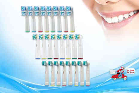Shop Sharks - Eight Oral B compatible toothbrush heads choose from dual, floss and standard styles - Save 0%