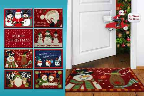 Furnishings - Christmas themed doormat in a choice of eight designs - Save 82%
