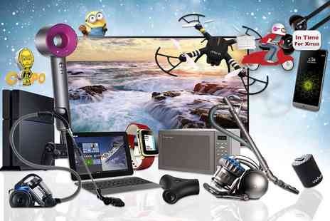 "HCI Distribution - Mystery Electronics Deal get a Dyson Supersonic hairdryer, LG 49"" UHD 4K TV, Sony PS4, GPS guided X Drone Quadcopter and more - Save 0%"