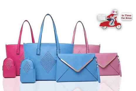 Evaniy Accessories - Three piece diamond tote bag set choose from five colours - Save 58%