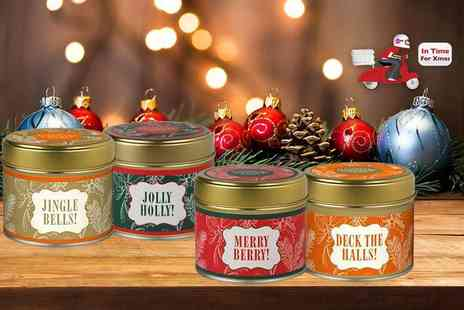 Orion GB - Christmas candle in a tin choose from four fabulously festive scents - Save 60%