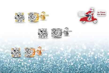 Fakurma - Three pairs of classic round earrings - Save 92%