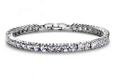 Groupon Goods Global GmbH - Princess Bracelet Made with Crystals from Swarovski - Save 0%