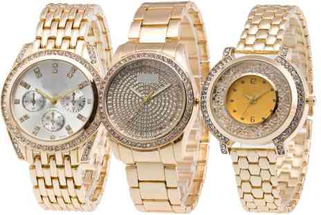 Groupon Goods Global GmbH - Womens Watch Made with Crystals from Swarovski - Save 0%