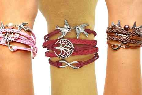 Groupon Goods Global GmbH - One or Two Womens Infinity Bracelets in Choice of Design - Save 0%