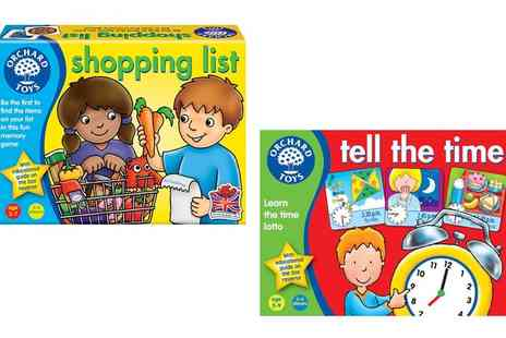 Groupon Goods Global GmbH - Orchard Toys Shopping List or Tell the Time Educational Game or Both - Save 0%