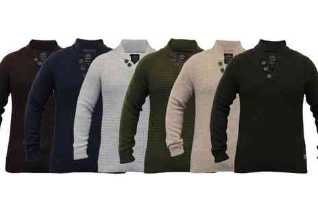 Groupon Goods Global GmbH - Mens Wool Mix Funnel Neck Threadbare Jumpers - Save 0%
