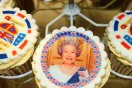 Sugarcups - Dozen Queens Diamond Jubilee cupcakes - Save 73%