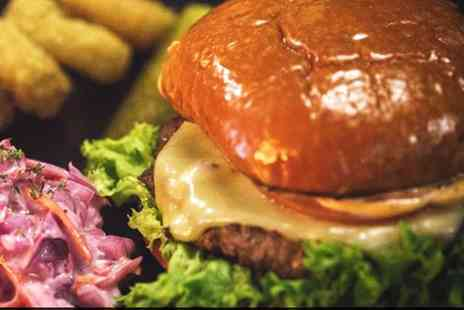 Real Burger Company - Choice of Burger and Fries for Two or Four - Save 31%