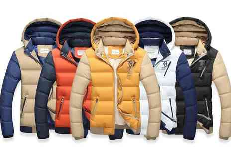 EF Mall - Stylish mens puffer jacket choose from five colours - Save 75%